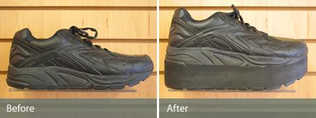 21486801222e67 Sole Lift. Custom Shoe Modification